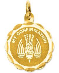 Macy's - 14k Gold Charm, My Confirmation Charm - Lyst