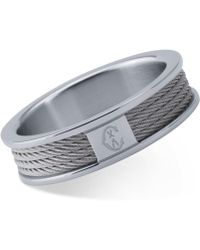Charriol - Forever Stainless Steel Cable Ring - Lyst
