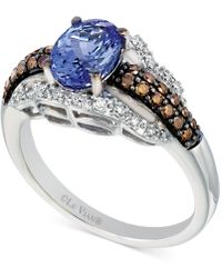 Le Vian - Tanzanite (1 Ct. T.w.) And Diamond (3/8 Ct. T.w.) Ring In 14k White Gold - Lyst