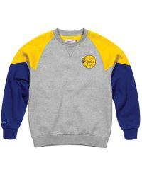 fe4c071cd86d Mitchell   Ness - Golden State Warriors Trading Block Crew Sweatshirt - Lyst