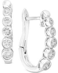 Effy Collection - Bubbles By Effy® Diamond Bezel Hoop Earrings (5/8 Ct. T.w.) In 14k White Gold - Lyst