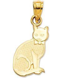 Macy's - 14k Gold Charm, I Heart My Cat Charm - Lyst