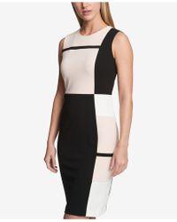 Tommy Hilfiger - Colorblocked Striped Sheath Dress - Lyst