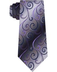 Van Heusen - Swirly Vines Silk Tie - Lyst
