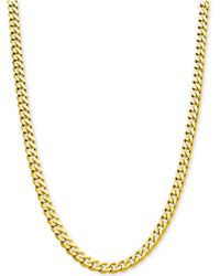 """Macy's - Flat Curb Link Chain 24"""" Necklace (8-7/8mm) In 18k Gold-plated Sterling Silver - Lyst"""