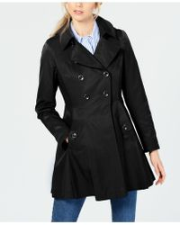 Via Spiga - Hooded Skirted Water Resistant Trench Coat - Lyst