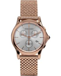 Emporio Armani - Emporio Armani Unisex Swiss Chronograph Rose Gold Ion-plated Stainless Steel Bracelet Watch 36mm Ars6009 - Lyst