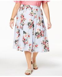 Tommy Hilfiger - Plus Size Cotton Floral-print Skirt, Created For Macy's - Lyst