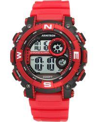 Armitron - Men's Digital Chronograph Red Strap Watch 54mm 40-8284rdbk - Lyst