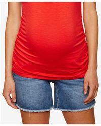 Jessica Simpson | Maternity Cuffed Denim Shorts | Lyst