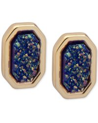 Ivanka Trump | Gold-tone Glittery Stud Earrings | Lyst