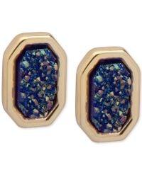 Ivanka Trump - Gold-tone Glittery Stud Earrings - Lyst