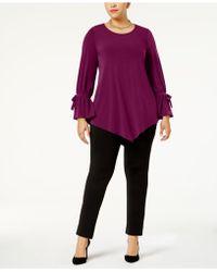 002656309fa Alfani - Plus Size Ruffled-sleeve Pointed-hem Blouse