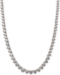 Arabella - Sterling Silver Necklace, Swarovski Zirconia Necklace (53 Ct. T.w.) - Lyst