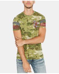 Buffalo David Bitton - Camouflage Graphic T-shirt - Lyst