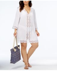 8a823470d8266 La Blanca Sorrento Embellished Tunic Dress Cover-up - Lyst