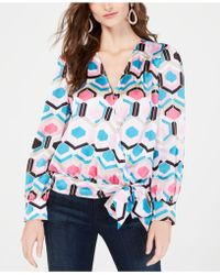 285dc363e9e1a8 INC International Concepts - I.n.c. Plus Size Printed Wrap Blouse, Created  For Macy's - Lyst