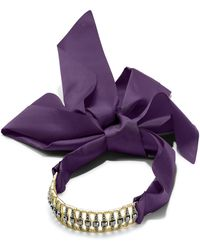 INC International Concepts - Pavé Bar & Satin Ribbon Choker Necklace - Lyst