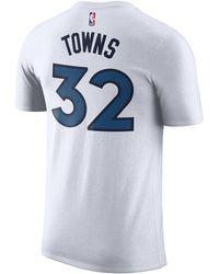 3114e78840d Nike - Karl-anthony Towns Minnesota Timberwolves Association Player T-shirt  - Lyst