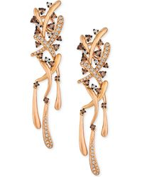 Le Vian - Diamond Dangle Drop Earrings (9/10 Ct. T.w.) In 14k Rose Gold - Lyst
