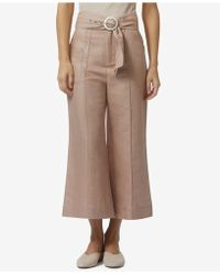 Avec Les Filles - High-waisted Wide-leg Cropped Pants - Lyst