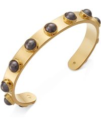 Kate Spade - Gold-tone Imitation Pearl Studded Cuff Bracelet - Lyst