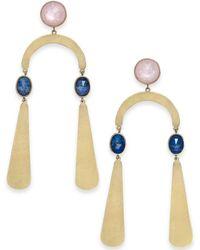 Kate Spade - Gold-tone Multi-stone Statement Earrings - Lyst