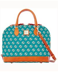 Dooney & Bourke - Miami Dolphins Zip Zip Satchel - Lyst