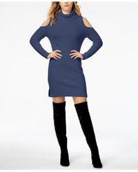 Kensie - Pinstripe-contrast Jumper Dress - Lyst