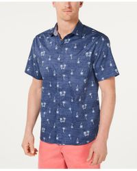 Tommy Bahama - Hammock Time Regular-fit Performance Stretch Palm-print Camp Shirt - Lyst
