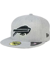 KTZ - Buffalo Bills Heather Black White 59fifty Cap - Lyst