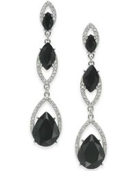 INC International Concepts - I.n.c. Crystal Double Drop Linear Earrings, Created For Macy's - Lyst