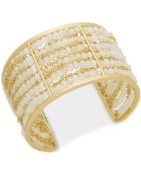 INC International Concepts - I.n.c. Gold-tone Beaded Multi-row Cuff Bracelet, Created For Macy's - Lyst