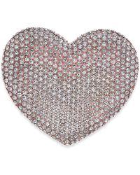 Joan Boyce - Rose Gold-tone Pavé Heart Pin - Lyst