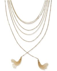 "INC International Concepts - Gold-tone Multi-chain & Tassel Layered Necklace, 17"" + 3"" Extender - Lyst"