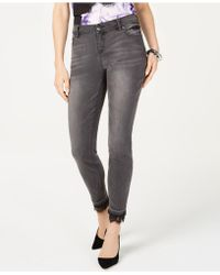 INC International Concepts - I.n.c. Lace-hem Skinny Jeans, Created For Macy's - Lyst