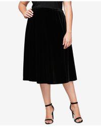 Alex Evenings - Plus Size Velvet Midi Circle Skirt - Lyst