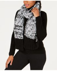 DKNY - Two-tone Chunky Knit Scarf, Created For Macy's - Lyst