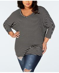 ae2cc3c7f Celebrity Pink - Trendy Plus Size Striped T-shirt, Created For Macy's - Lyst