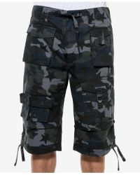 "Sean John - Camo Cargo 14"" Inseam Shorts - Lyst"