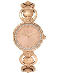 Versus - Victoria Harbour Rose Gold-tone Stainless Steel Bracelet Watch 34mm - Lyst