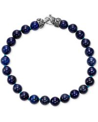 Scott Kay - Men's Lapis Lazuli (8mm) Bead Link Bracelet In Sterling Silver - Lyst