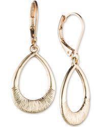 Nine West - Textured Open Drop Earrings - Lyst