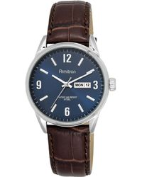 Armitron - Men's Brown Leather Strap Watch 40mm 20-5048nvsvbn - Lyst