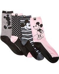Disney - 4-pk. Vintage Vibes Mickey Mouse Crew Socks - Lyst