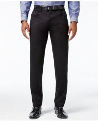 INC International Concepts | Men's Deep Black Stretch Pants | Lyst