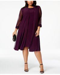 2bef300e70b87 Lyst - R   M Richards Plus-size Embellished Dress   Jacket Set in Purple