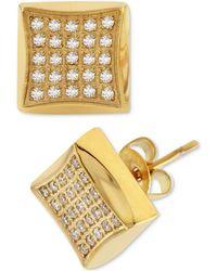 Macy's - Diamond Square Cluster Stud Earrings (1/4 Ct. T.w.) - Lyst