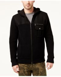 INC International Concepts - Men's Zip-front Hoodie With Faux Fur Lining - Lyst