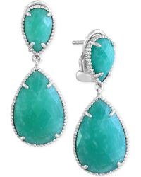 Effy Collection - Amazonite (14-2/5 Ct. T.w.) Drop Earrings In Sterling Silver - Lyst